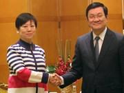 越南国家主席会见中国人民对外友好协会主席