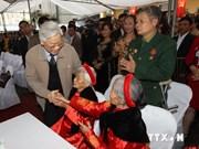 阮富仲总书记与太原省人民欢度民族大团结节日