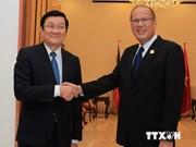 越南国家主席张晋创会见菲律宾总统阿基诺三世