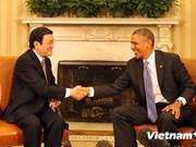 越南国家主席会见美国总统及日本首相