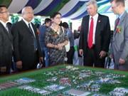 越南隆安省动工兴建绿色工业区项目引桥