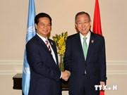 越南政府总理阮晋勇会见联合国秘书长潘基文