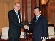 越南国家主席张晋创会见匈牙利最高法院院长