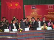 越柬边境两省合作共建和平友谊边界线