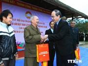 越南祖国阵线中央委员会主席同宣光省新潮乡居民欢度民族大团结日