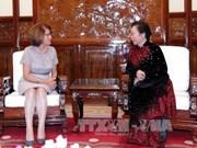 越南国家副主席会见法语国家组织亚太地区代表处经理