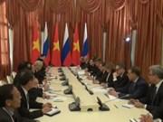 越共中央总书记阮富仲会见俄总理梅德韦杰夫