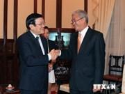 越南国家主席张晋创会见孟加拉国离任驻越南大使查克曼