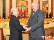 越共中央总书记阮富仲与白俄罗斯总统亚历山大举行会谈