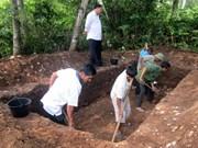 越南考古学院在河静省挖掘新石器时代晚期考古遗址