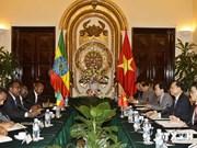 越南政府副总理武文宁同埃塞俄比亚副总理德梅克·梅孔嫩举行会谈
