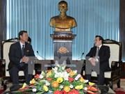 越共中央对外部部长会见朝鲜客人