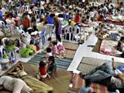哈格比超级台风登陆菲律宾中部地区