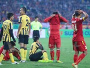 2014年东南亚男足锦标赛:马来西亚队客场打败越南队晋级决赛