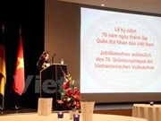 越南人民军建军70周年庆祝活动在德国和泰国隆重举行