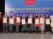 第12次克瓦奖和奖学金颁发仪式在河内举行