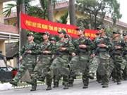 越南公安部长陈大光大将探访首都河内司令部
