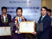 越南学生在2014年国际际青少年科学奥林匹克竞赛夺两金牌