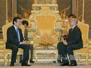 越南国家主席会见柬埔寨国王