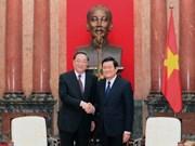 越南国家主席张晋创会见中共中央政治局常委、中国人民政治协商会议主席俞正声