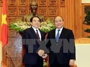 越南政府副总理阮春福会见老挝客人