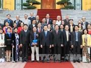 越南国家主席张晋创会见越南南方中央局老团员青年代表团