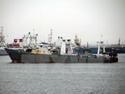 韩渔船失火致两名越南船员失踪