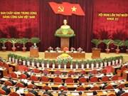 越共第十一届中央委员会第十次全体会议进入第二天