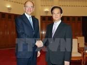 越南政府总理阮晋勇会见意大利前总理恩里克·莱塔