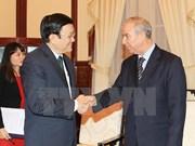 越南国家主席张晋创会见阿尔及利亚驻越大使