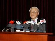 越共第十一届中央委员会第十次全体会议第八天