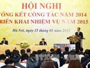 越南政府总理阮晋勇主持召开政府办公厅2015年工作部署会议