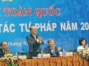 越南司法部展开2015年司法工作