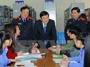 越南国家主席张晋创探访河内检察大学
