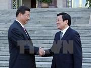 越中建交65周年:两国领导人互致贺电