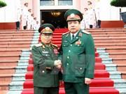 越老两国国防部加强合作