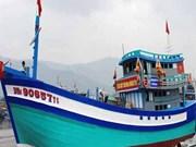 岘港渔民新建造渔船下水 取代之前被中国船撞沉的90152TS号渔船