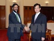 越南政府总理会见联合国联合国政府间气候变化专门委员会主席