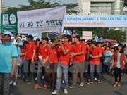 关爱贫困人慈善步行活动LawrenceS.Ting在胡志明市举行