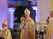 梵帝冈圣座万民福音传播部部长探访越南岘港市教区