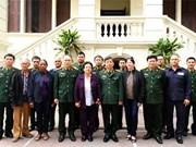 越南人民军总政治局领导会见古巴烈士家属代表团