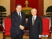 越南高级领导会见来访的欧洲委员会主席