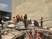 墨西哥地震救援工作(组图)