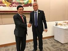 越南政府副总理兼外长范平明在亚欧外长会议期间开展系列活动(组图)