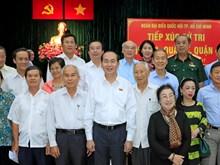 越南国家主席陈大光在胡志明市开展选民接待活动(组图)