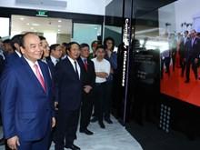 阮春福出席海防越南乐金显示器生产厂落成仪式(组图)