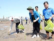 越南国会主席阮氏金银出席金瓯省植树仪式(组图)