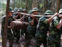 越南广宁省安全转移处理一枚225公斤炸弹(组图)