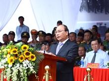政府总理阮春福出席2017年APEC领导人会议周反恐演练和安保出征仪式(组图)