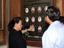 越南国会主席阮氏金银探访慰问河南省伤残军人(组图)